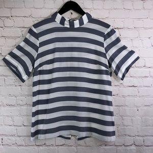 Short Sleeve Stripe By Banana Republic